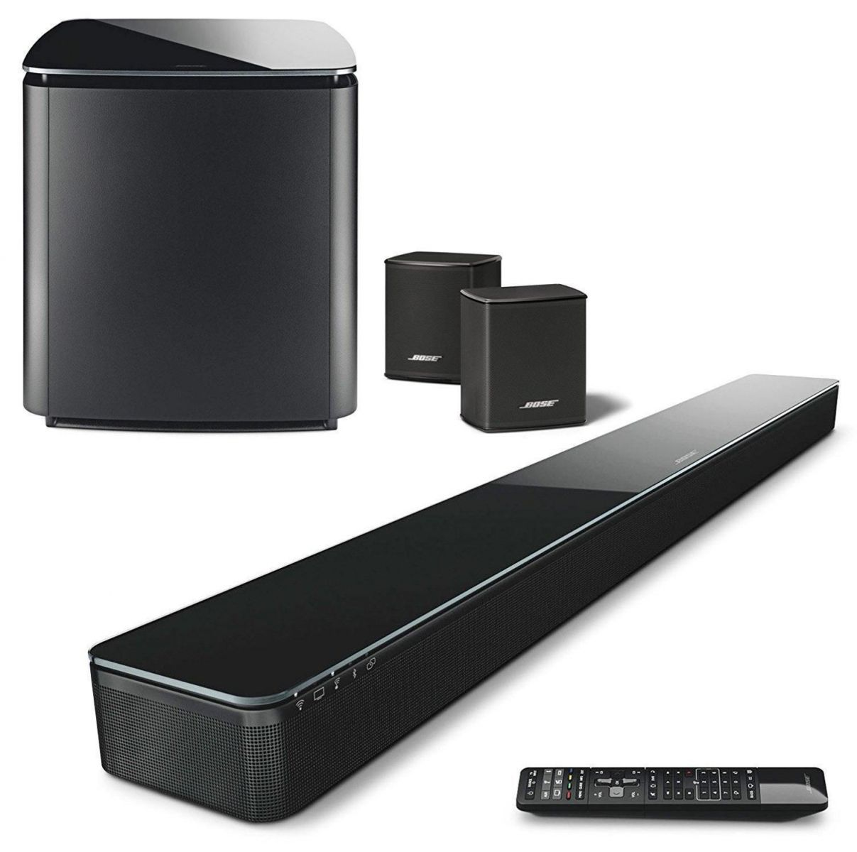 Dàn âm thanh 5.1 gồm Bose Soundtouch 300, Acoustimass 300, Virtually Invisible 300