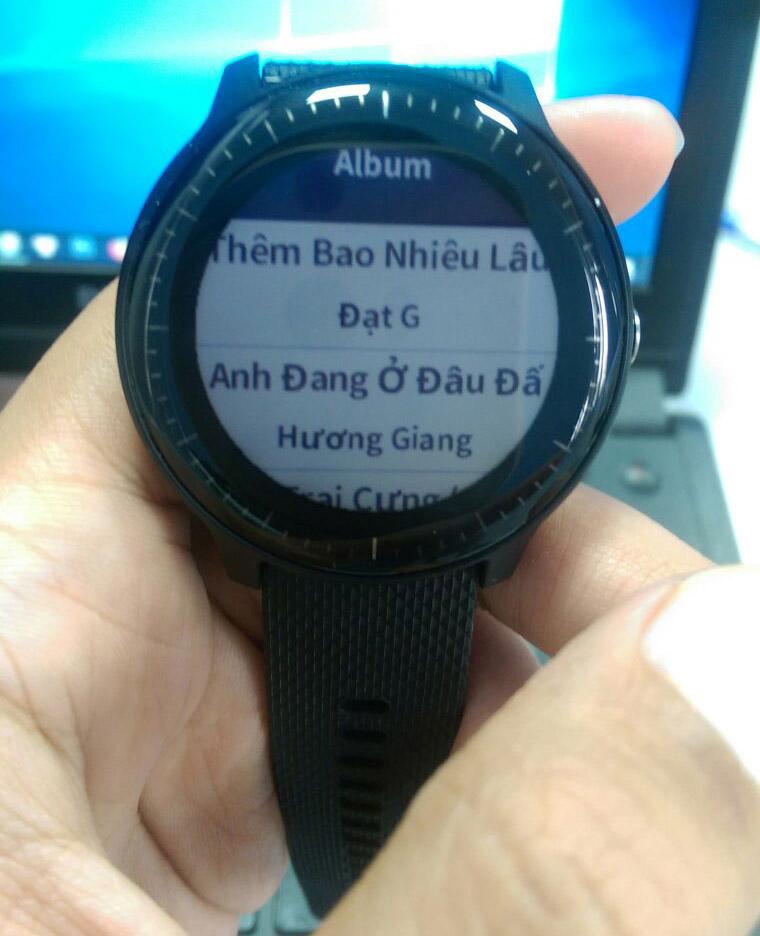 Các bài nhạc đã được chép lên đồng hồ