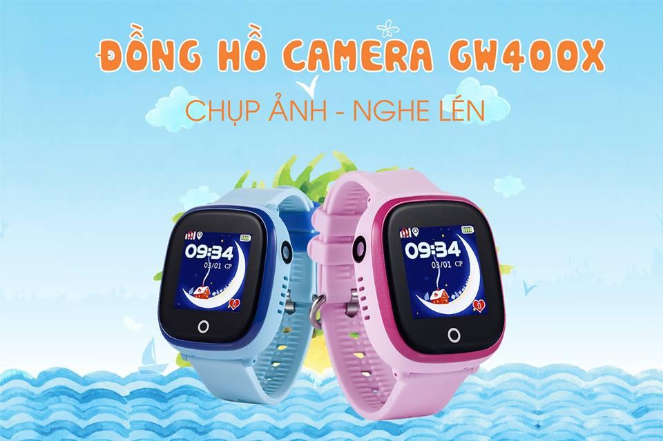 Đồng hồ định vị chống nước GW400X có camera