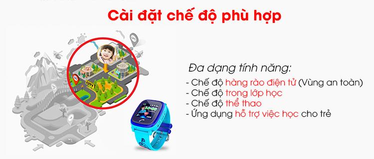 Các tính năng hỗ trợ trên đồng hồ trẻ em Wonlex GW400S