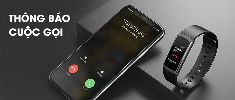 vòng tay thông minh hỗ trợ nhận thông báo cuộc gọi