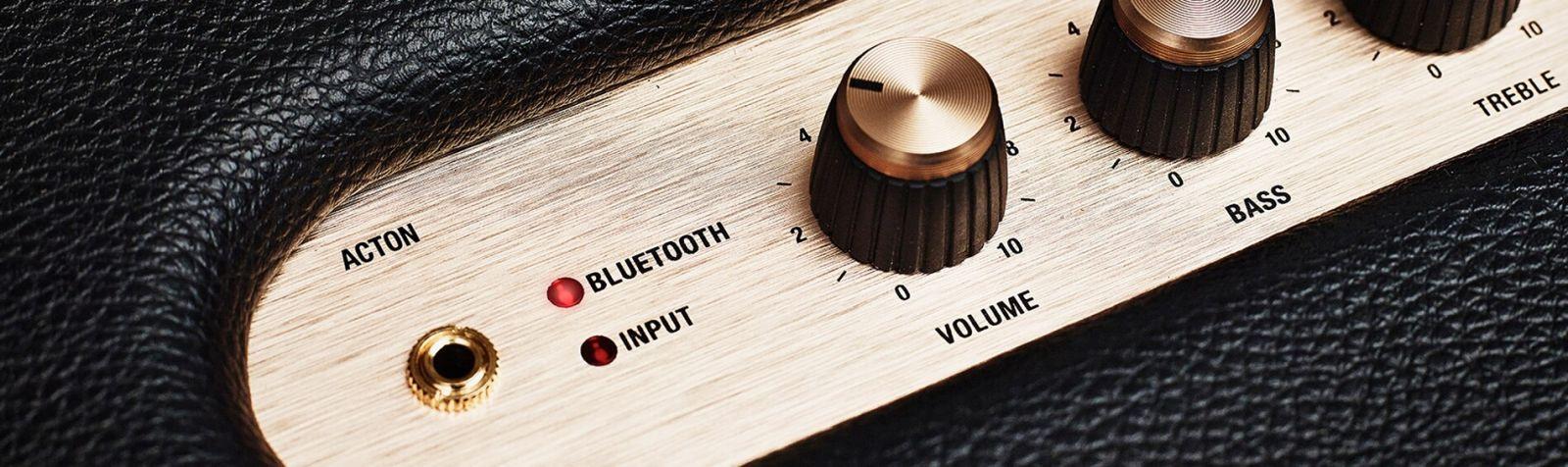 Loa bluetoothActon được trang bị nút chỉnh bass và treble