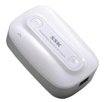 Sạc tích điện đa năng SSK 6600 mAh kiêm bộ phát WiFi USB 3G