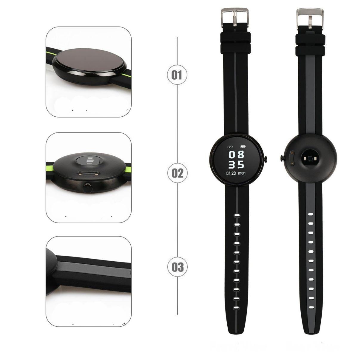 Vòng đeo tay thông minh Wonlex V06S đo nhịp tim, huyết áp tốt nhất