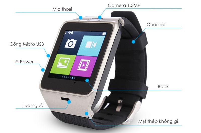 Đồng hồ thông minh UKOEO UK25 màn cảm ứng có NFC