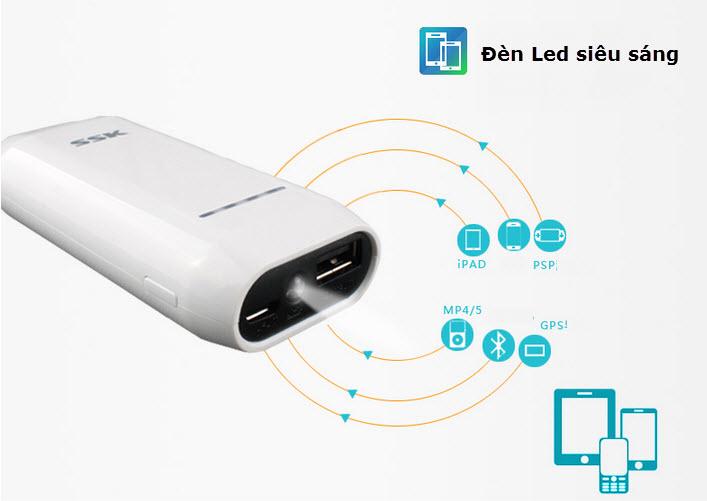 Hướng dẫn sử dụng pin dự phòng SSK 533 - 4400mAh