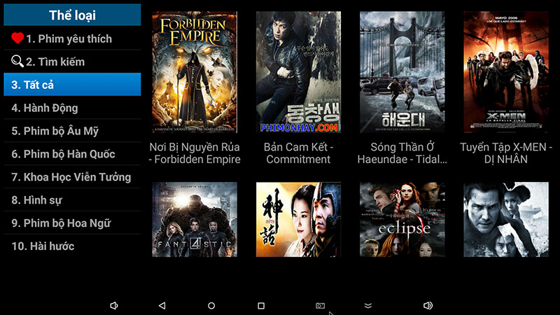 flytv android tv box ung dung xem truyen hinh tivi online mien phi flytvbox - xem phim
