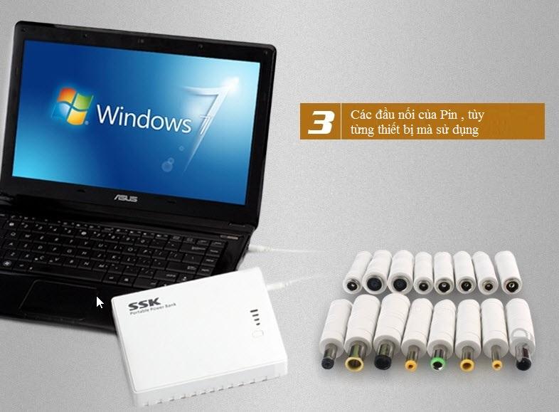 Pin cầm tay  SSK SRBC 516 - 7800 mAh