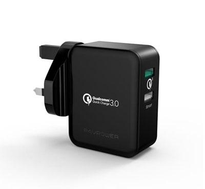 Sạc nhanh RAVPower RP-PC006 (QC EU) 30W hỗ trợ mọi cổng USB