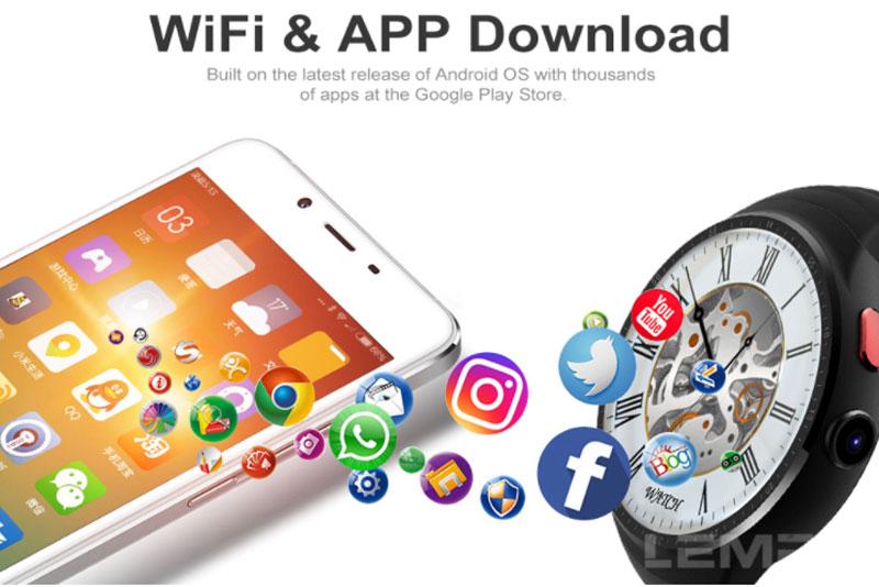 Đồng hồ thông minh Finow Z10 có WiFi - 3G, Ram 1G, ROM 16Gb cấu hình mạnh nhất hiện nay.