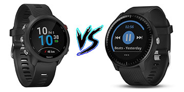 So sánh smartwatch Garmin Forerunner 245 Music và Vivoactive 3 Music