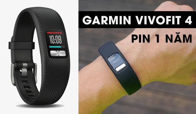 [VIDEO] Vòng tay sức khỏe Garmin Vivofit 4 l Pin 1 năm
