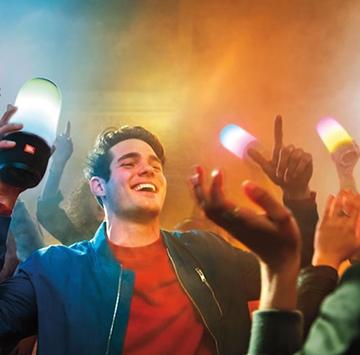 Loa bluetooth mini cho điện thoại tích hợp đèn nháy mới nhất JBL Pulse 2