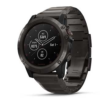 Đồng hồ Garmin Fenix 5 Sapphire - 47mm Black with Black Band