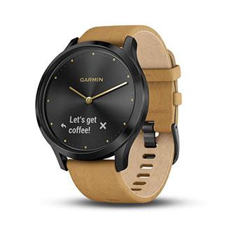 Đồng hồ Garmin Vivomove HR bản Premium (dây da, thân kim loại)