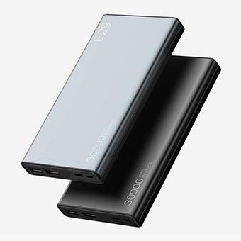 Pin dự phòng Eloop E26 chính hãng, 12.000mAh, bọc da, 2 cổng USB