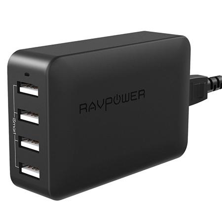 Sạc RAVPower RP-PC029, 6 cổng USB, 60W, sạc nhanh QC 3.0